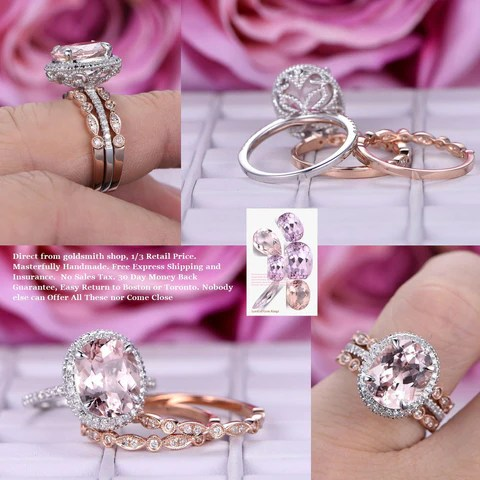 Custom Morganite Engagement Rings Amp Wedding Rings LOGR