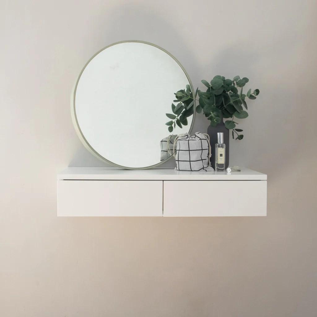 Small Floating Dressing Table White Urbansize