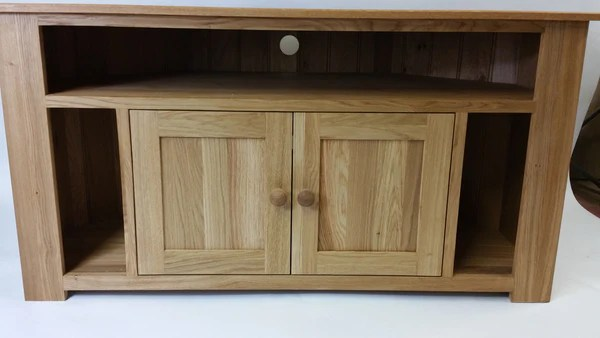 Extra Special Corner TV Unit With Speaker Slots And
