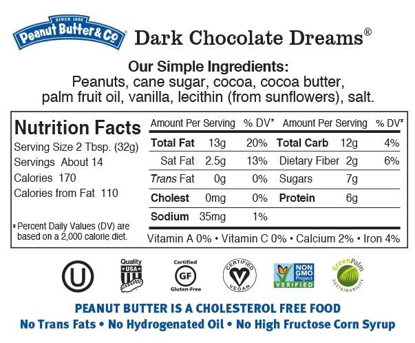 dark chocolate dreams nutrition
