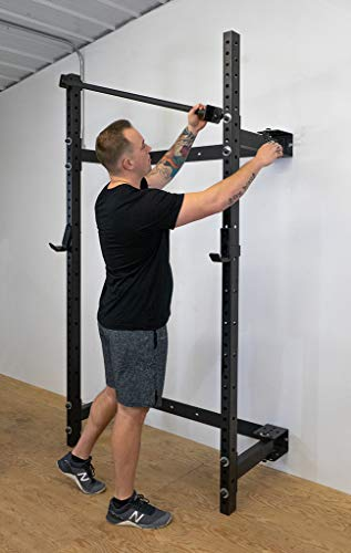 https fitnessgearusa com products prx performance murphy rack fold in squat rack wall mounted folding power rack weight lifting power rack with adjustable pull up bar heavy duty j cups home gym equipment