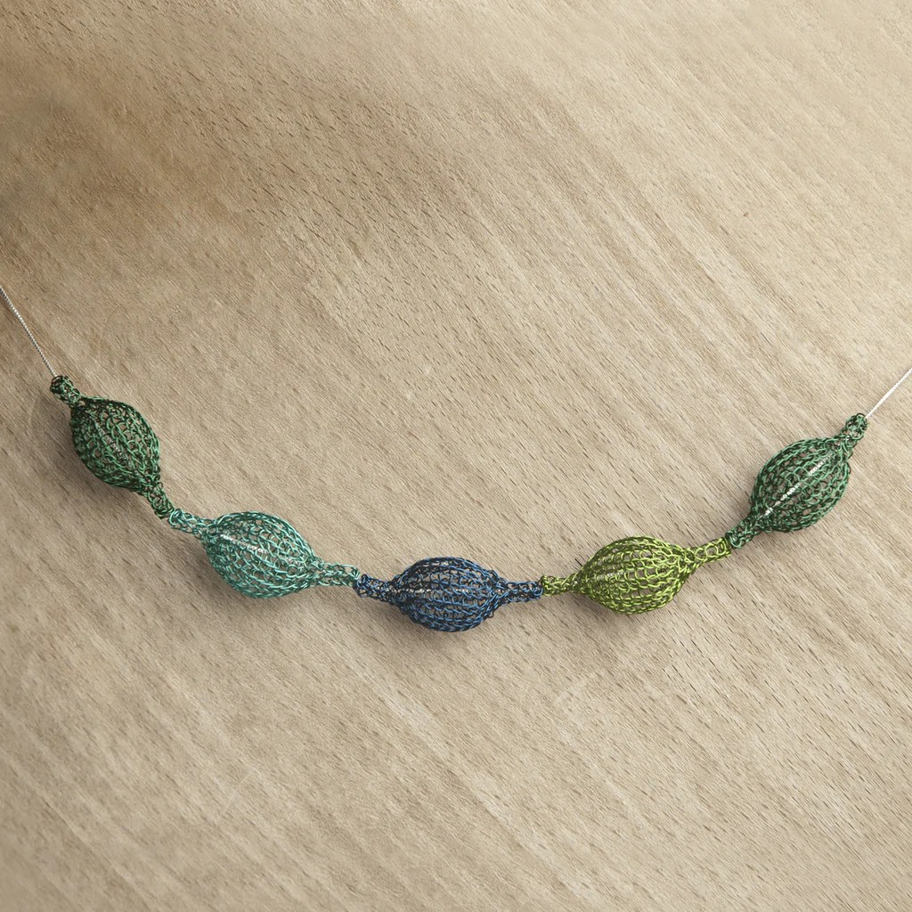 wire crochet necklace by yoola