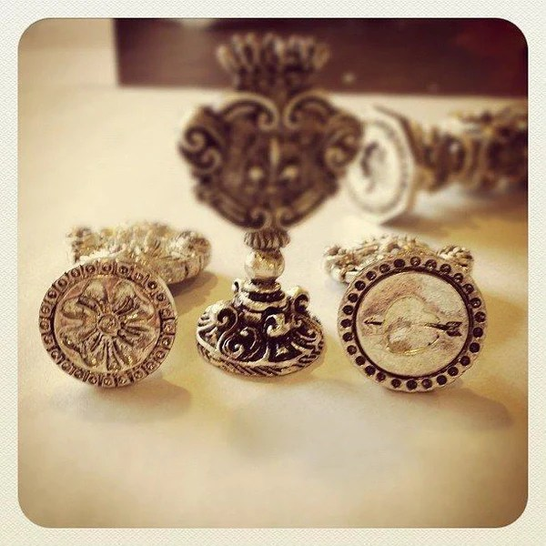 Silver Plated Italian Designs Wax Seal Stamp