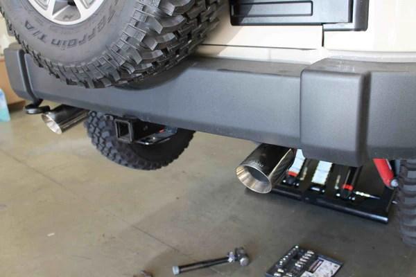 2007 18 jeep wrangler legato v6 axle back exhaust