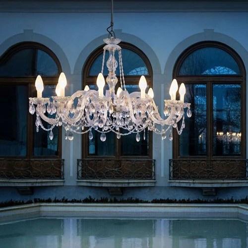 drylight 12 light outdoor chandelier