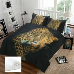 Brown Black Cheetah Safari Bed Bag 3 Pc Comforter Set Twin Xl Full Queen Size