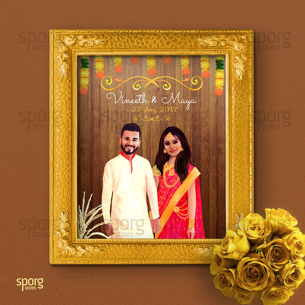 Illustrated Indian Wedding Invitation From Concept To Card Sporg Stores