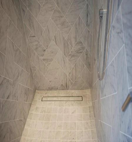 designer shower linear drain tile insert series
