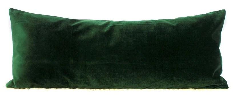 green velvet lumbar pillow cover velvet lumbar 14x36 no452