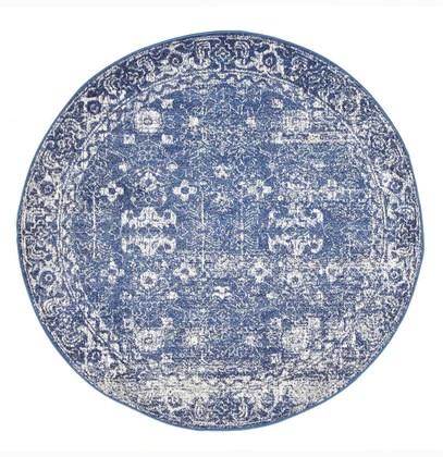 traditional hamptons rug round navy
