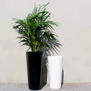 Root and Stock Sonoma Tall Cylinder Planter   White