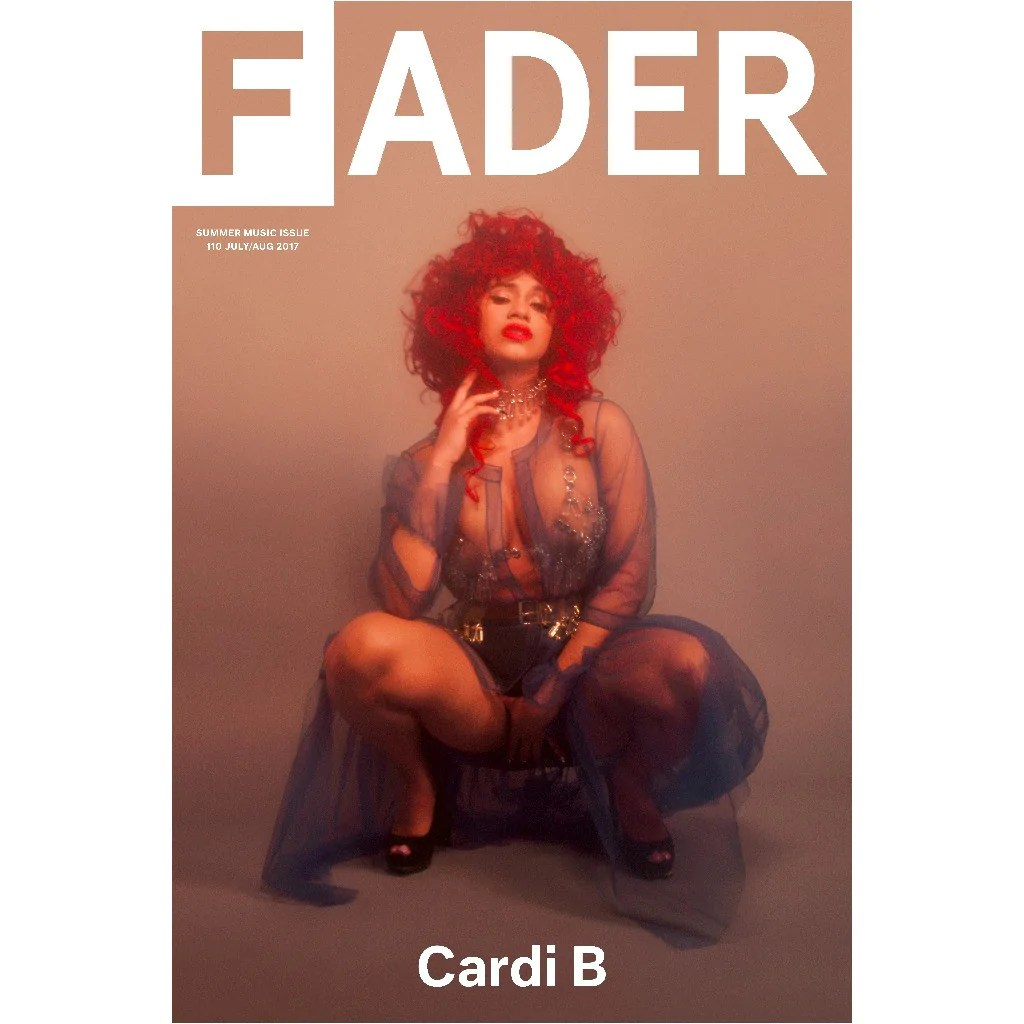 cardi b the fader issue 110 cover 20 x 30 poster