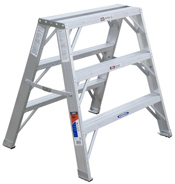 3 Step Ladder Ft Aluminum Wide Step