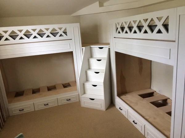 Naples Bunk Beds Adult Quot L Quot Quad Bunk Beds Thestocktonmill
