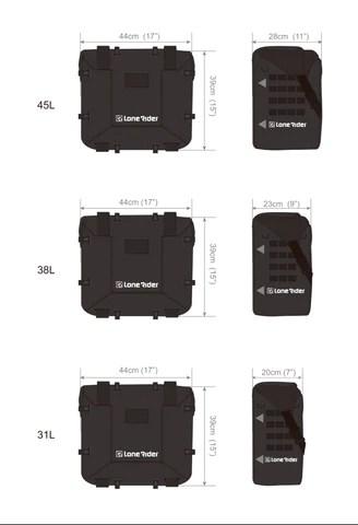 MotoBags Dimensions Motorcycle Bags