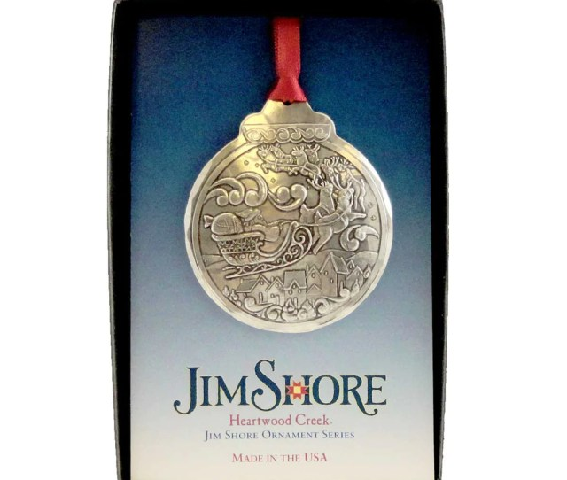 Jim Shore Wendell August Santa Aluminum Christmas Ornament
