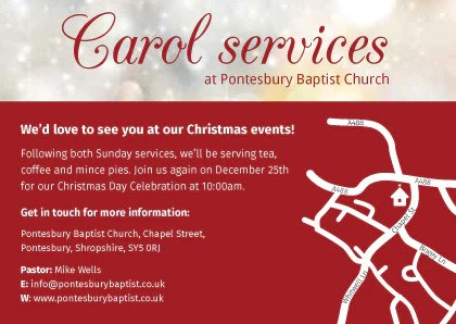 Christmas Carol Invitation Cards – Merry Christmas And Happy New ...