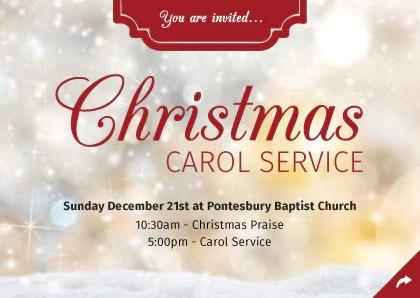 Christmas Carol Invitation – Merry Christmas And Happy New Year 2018