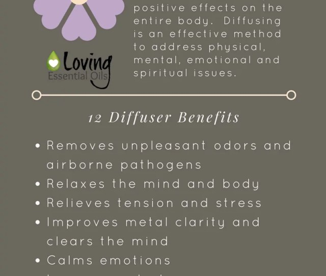 Essential Oils Diffuser Benefits Infographic