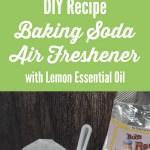 Homemade Baking Soda Air Freshener With Lemon Essential Oil