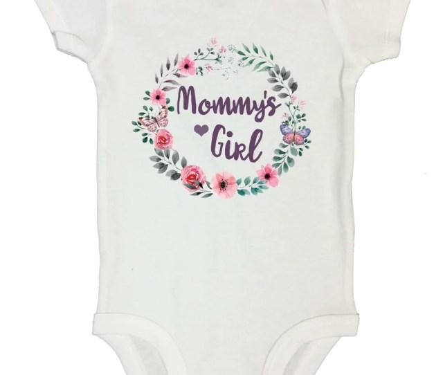 Mommys Girl Funny Kids Onesie