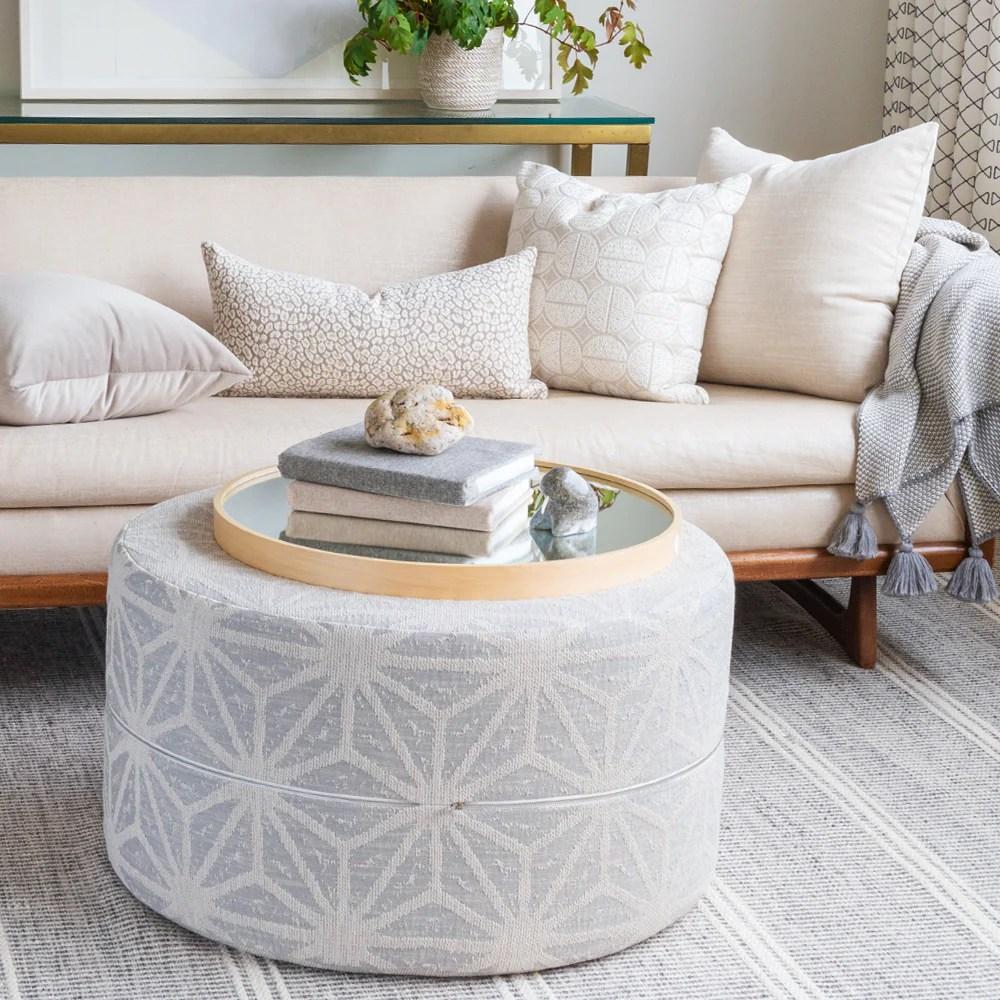portia 30x16 round ottoman stone grey