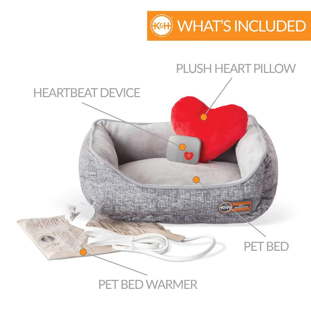 mother s heartbeat heated kitty bed w