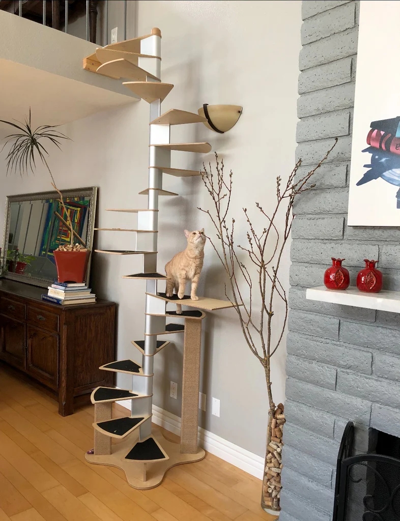 Spiral Cat Staircase Low Inventory | Circular Stairs For Sale | Shop | Glass | Wooden | Modern | Wrought Iron