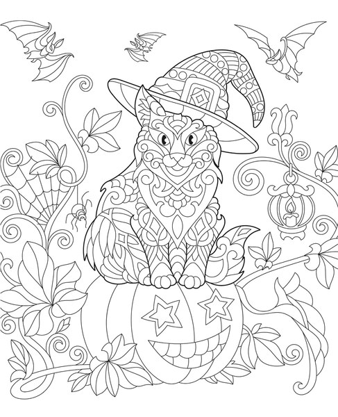 Coloring Cats Halloween Edition Media Lab Publishing