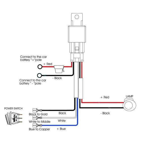 Nilight 14AWG Heavy Duty Wiring Harness Kit 1 Lead