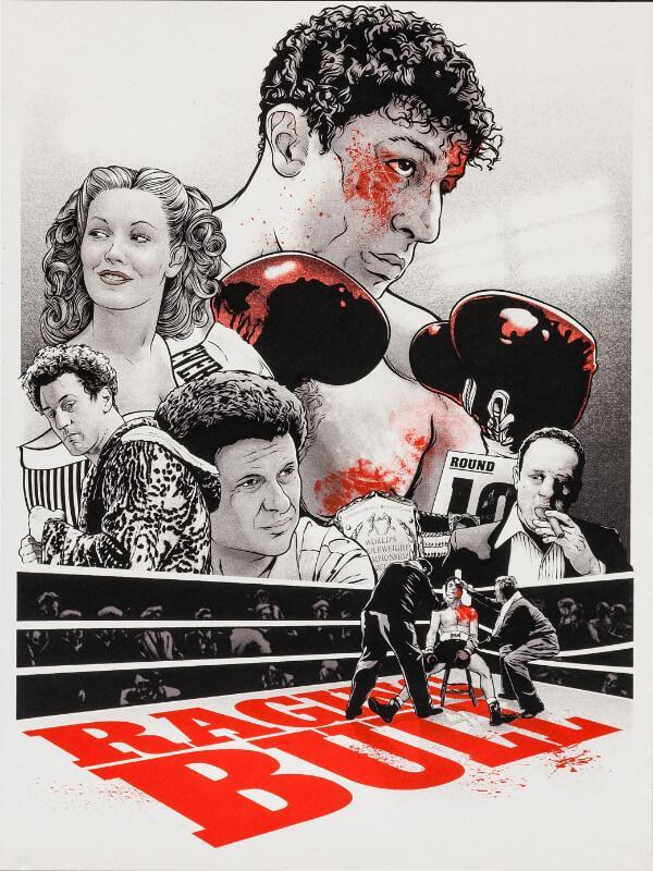 cult movie poster art raging bull robert de niro tallenge hollywood poster collection art prints