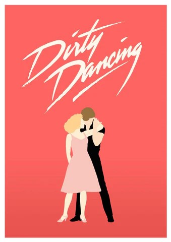 dirty dancing hollywood english musical movie minimalist poster large art prints