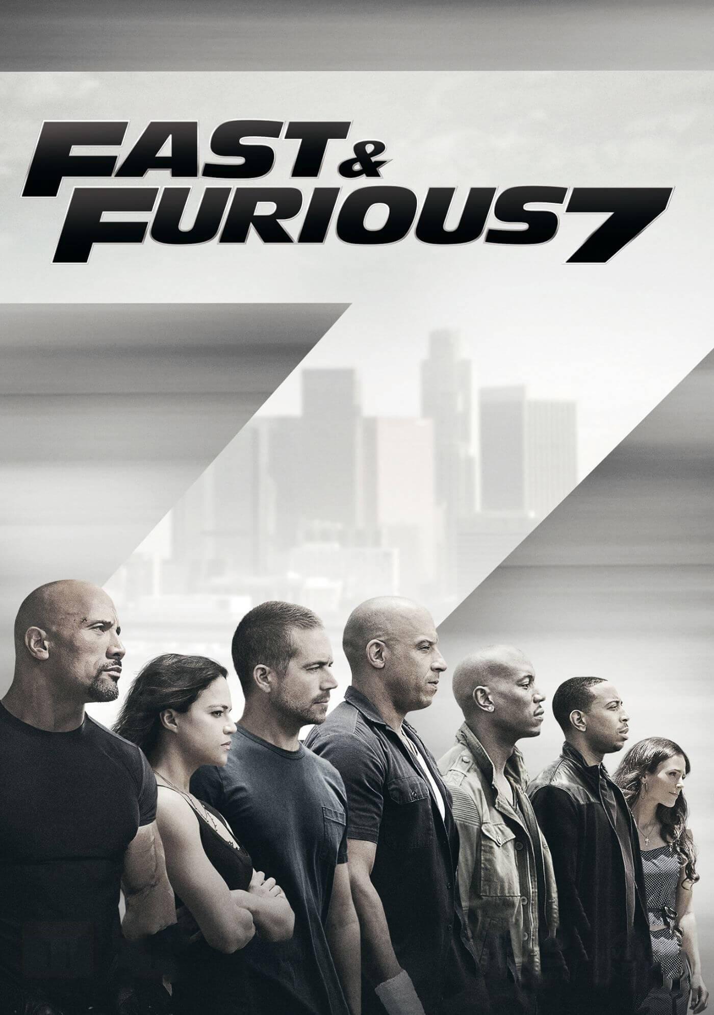 fast furious 7 paul walker vin diesel dwayne johnson hollywood action movie poster posters