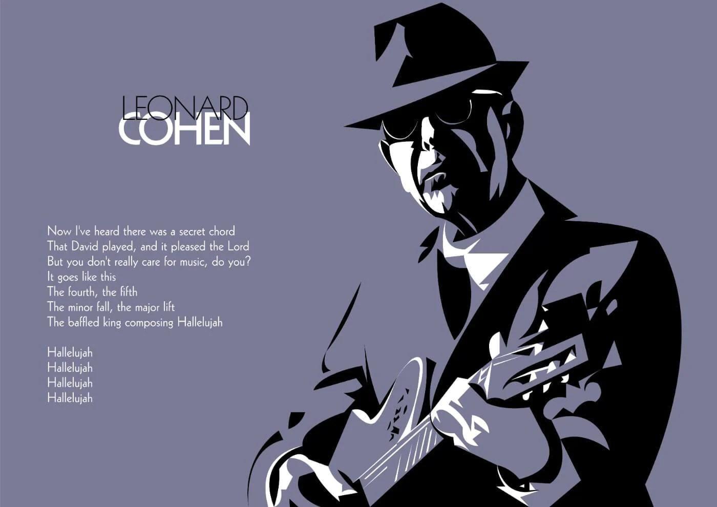 leonard cohen hallelujah graphics poster posters
