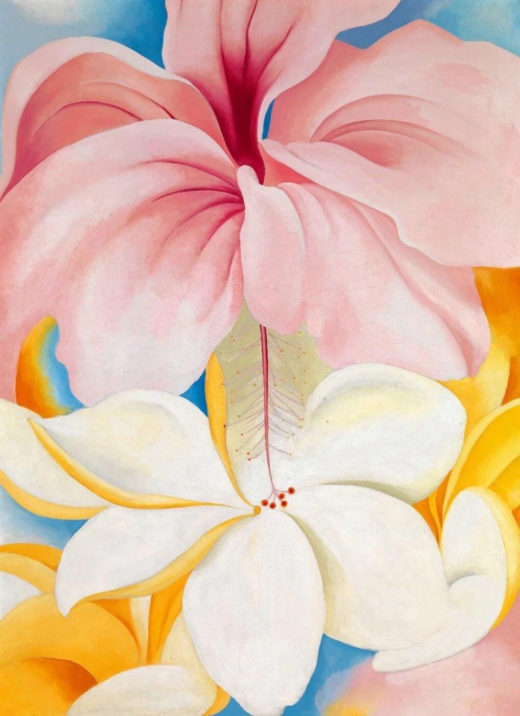 hibiscus georgia o keeffe posters