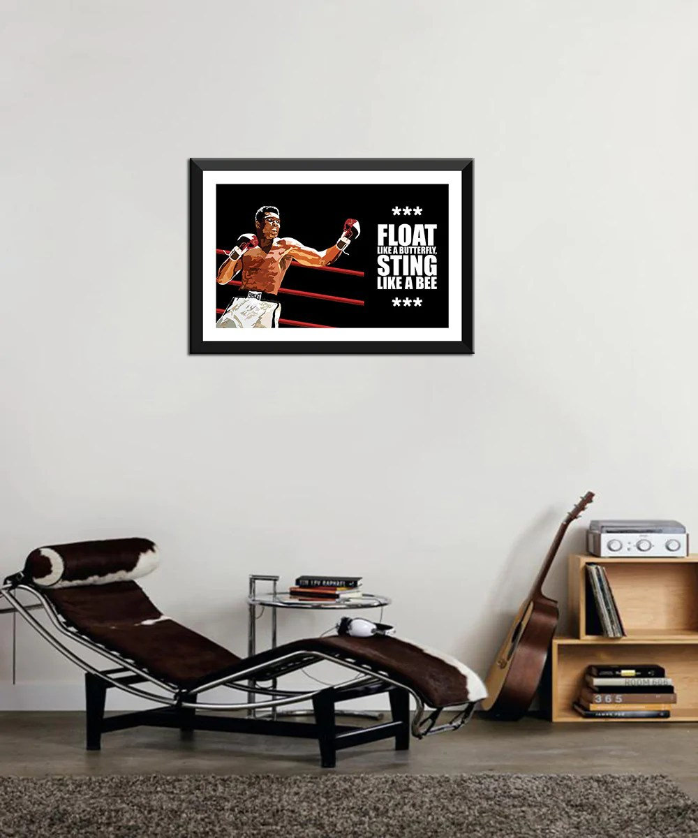 muhammad ali set of 10 framed poster paper 12 x 17 inches each