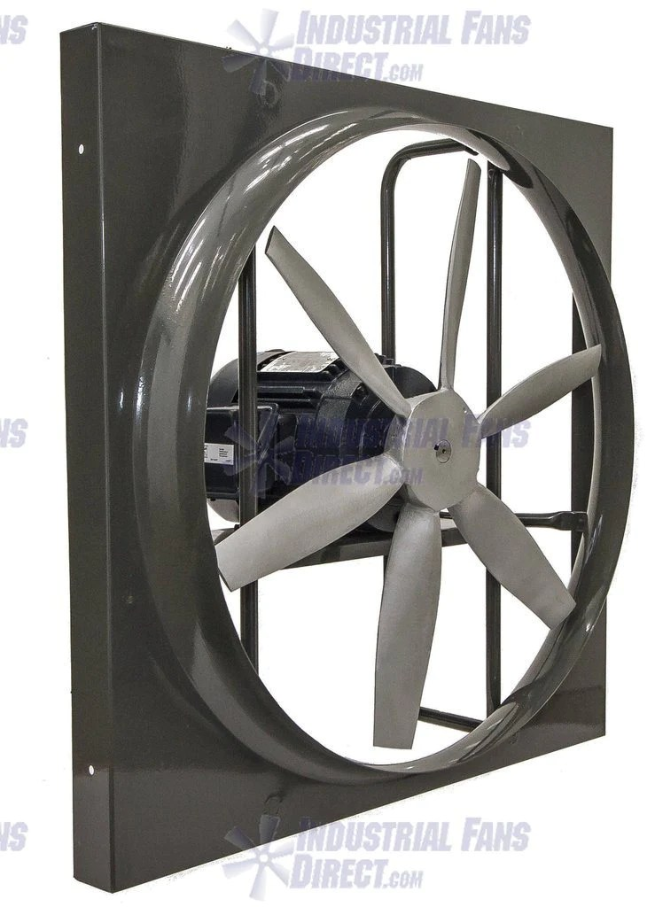 airflo 900 panel mount exhaust fan 36 inch 20500 cfm inverter duty motor direct drive 3 phase n936l h 3 t