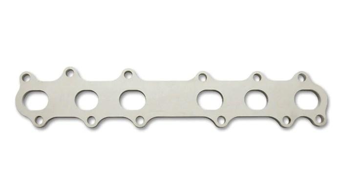 vibrant toyota 2jzgte exhaust manifold flange mild steel