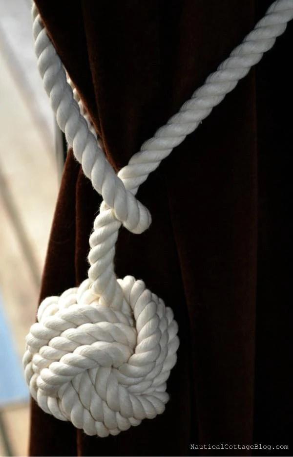monkey fist curtain tie back each