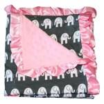Bayb Brand Baby Blanket Pink Elephant
