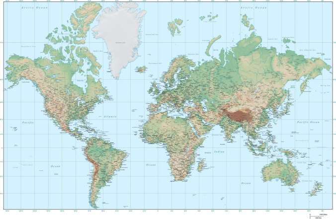 Image result for world map mercator projection