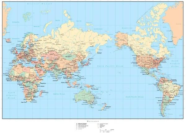 Capitals Map Asia