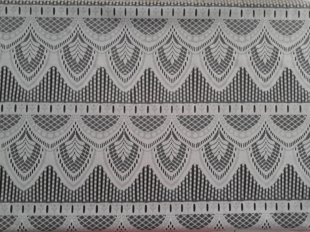 rideau voilage blanc 90 cm de largeur motif epis modulable en hauteur