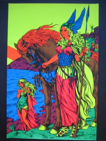 Black Light Poster 1971 Vikings Mate Nevermind Gallery
