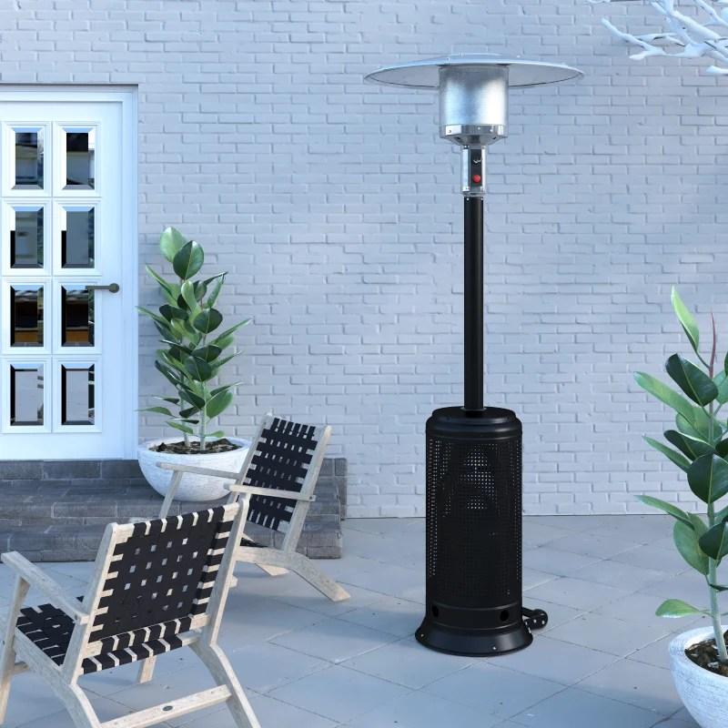 lux series patio heater in matte black