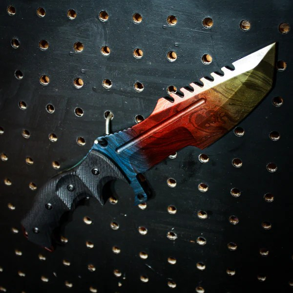 Painted Butterfly Knife