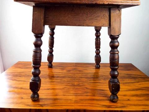 antique mission style tiled end table california tile oak side tile