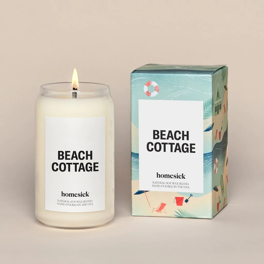 Beach Cottage Candle - Salty Ocean Air Candle | Homesick