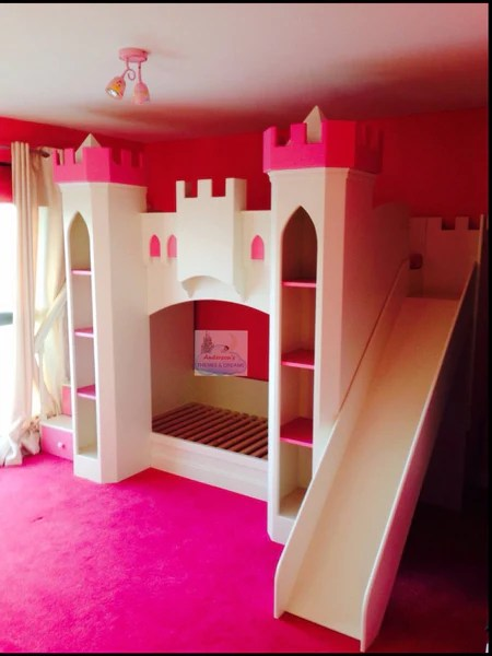 Castle Bunk Bed With Drawer Stairs With Slide