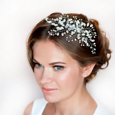 imitation pearl bridal hair accessories bridal hair combs hairpin tiara wedding hair accessories